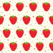 Pattern with strawberries — Stock Vector