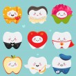 Teeth on Valentines Day — Vector de stock
