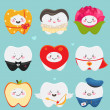 Teeth on Valentines Day — Stockvector
