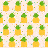 Pattern with pineapple — Stock Vector