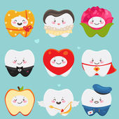 Teeth on Valentines Day — Stock Vector