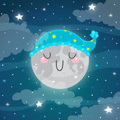 Sleeping Moon — Stock Vector