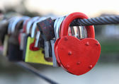 Lock, tradition of love — Stock Photo