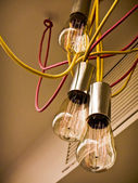 Interior element - a bright lamp wire — Stock Photo