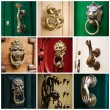 Stock Photo: The door handle in the Maltese house