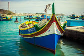 A traditional Maltese luzzu fishing vessel — Stock Photo