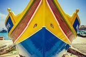Traditional Maltese Boat - Luzzu — Stock Photo