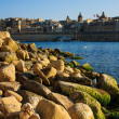 Skyline of Vittoriosa from Kalkara, Malta - Stock Photo