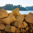 Royalty-Free Stock Photo: Look at the city through big stones, Malta