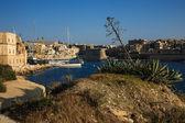 The green hill in Kalkara, Malta — Stock Photo