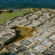 Salt evaporation ponds, Malta — Stock Photo #22950204