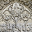 Tympanum of the Saint-Etienne Cathedral. — Stock Photo