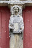 Sculpture of Saint-Etienne on the pier of St. Stephen's Cathedral. — Stock Photo