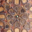 Ornamentation of a wooden door. The Great Mosque of Paris. — Stock Photo