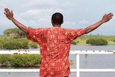 アフリカ瞑想腕調達湖. — ストック写真