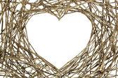 филиалы в форме любовь — Стоковое фото