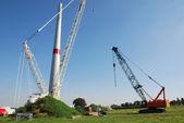 Construction windturbine — Stock Photo
