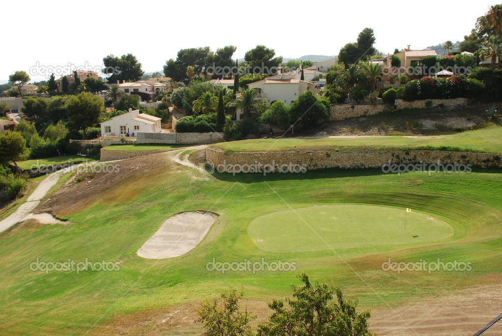 The golf course close to Calpe on the costa blanca  Stock Photo #16554173
