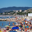 The beach in Cannes - Stock Photo