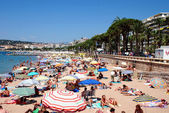 The beach in Cannes — Stock Photo