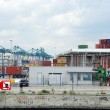 Containers in the port of Antwerp — Stock Photo #25945853