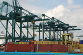 Containers in the port of Antwerp — Stock Photo