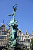 Grand place in Antwerp — Stock Photo
