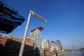 Mediahafen Dusseldorf — Stock Photo