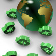 Global recycle — Stock Photo