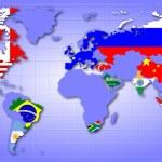 Mapa G20 — Zdjęcie stockowe
