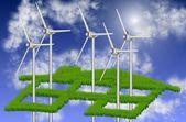 Casa e energia sustentável — Foto Stock