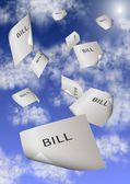 Bills and debt — Stock Photo