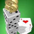 Gambling money — Stock Photo