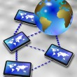 Global information network — Stock Photo