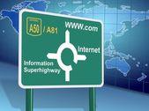 Internet directions — Stock Photo