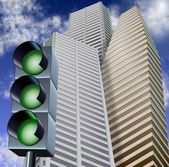 Green light for business — Stock Photo