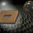 Stock Photo: Microprocessor technology