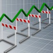 Business barriers — Stock Photo