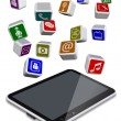 Tablet PC apps — Stock Photo