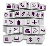 Apps in cubes — Stock Photo