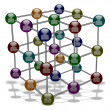 Social media molecule — Stock Photo