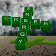 Green energy and climate — Stock Photo