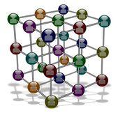 Social media molecule — Stock Photo
