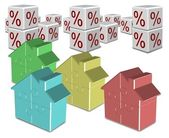 Mortgage and interest rates — Stock Photo