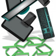E-waste recycling — Stock Photo #18167753
