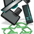 Stock Photo: E-waste recycling