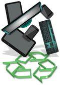 E-waste recycling — Stock Photo