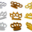 Knuckle dusters 3d set — Stock Photo