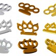 Knuckle dusters 3d set - Stock Photo