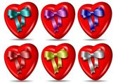 Heart and ribbon collection — Stock Photo
